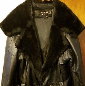 Black medium sized Wilson leather coat